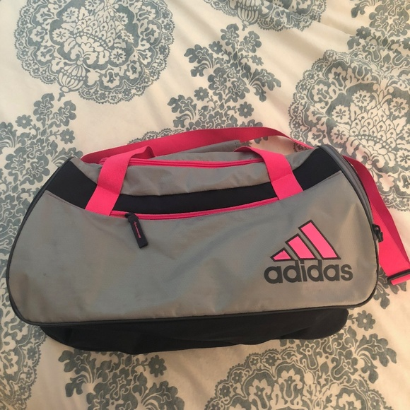 adidas Bags   Silver And Pink Duffle Bag   Poshmark 0225729fff